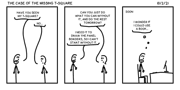 The Case of the Missing T-Square