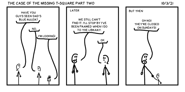 The Case of the Missing T-Square Part Two